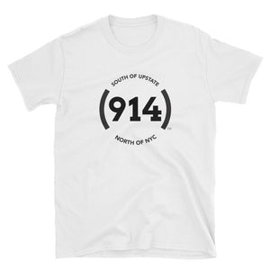 (914) Logo Short-Sleeve White T-Shirt