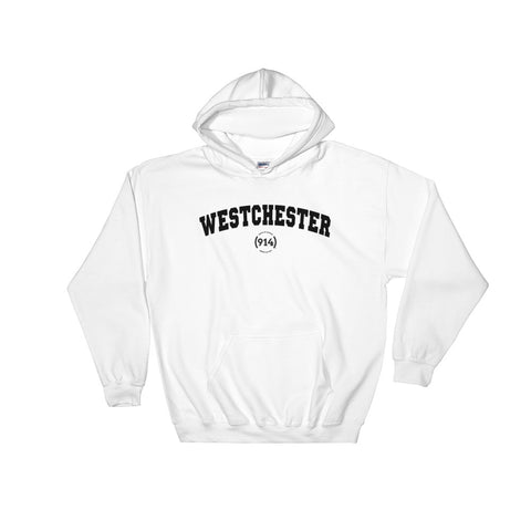 Signature Westchester White Hooded Sweatshirt
