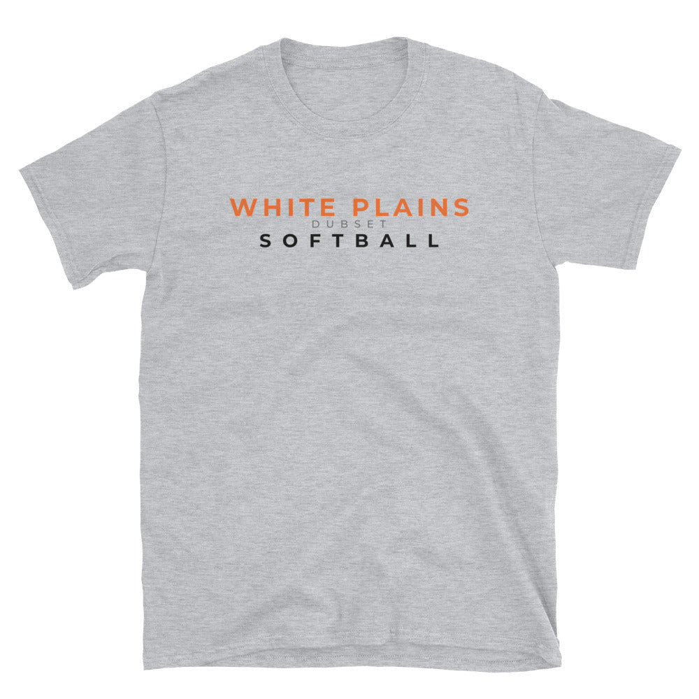 White Plains Softball Short-Sleeve Grey T-Shirt