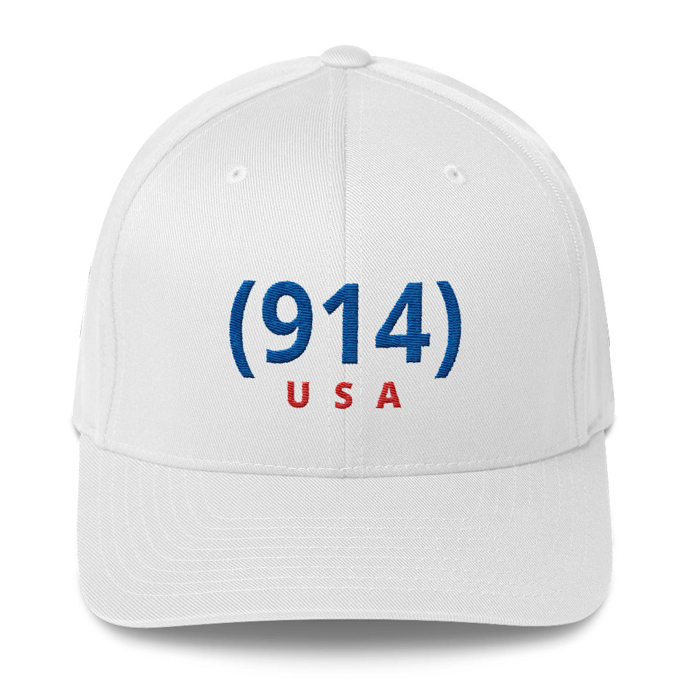 Signature (914) White & Blue USA Cap