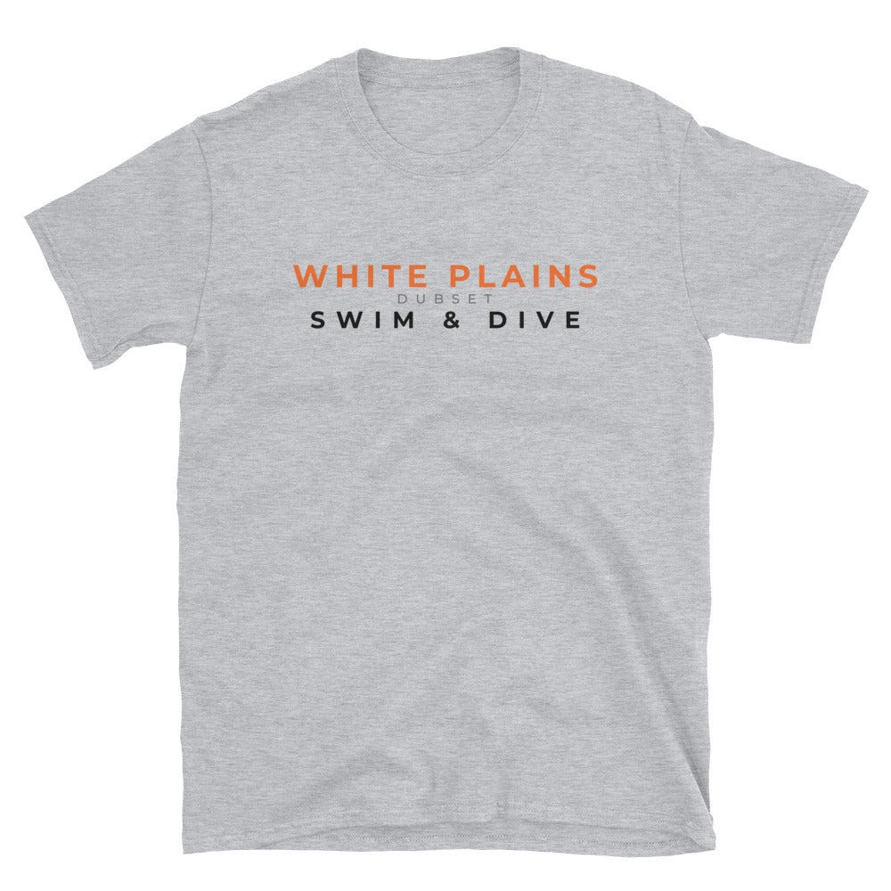 White Plains Swim & Dive Short-Sleeve Grey T-Shirt