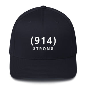 (914) STRONG Black Structured Twill Cap: 100% TO CAUSE