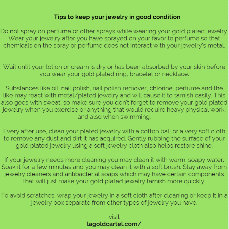 6 Tips to keep your jewelry in a good shape