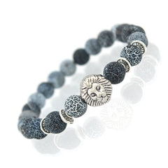 Free Men Lion Head Beaded Bracelet