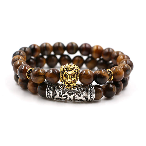 bead lion head bracelet