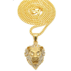Lion chain necklace pendants la gold cartel iced out lion chain aloadofball Image collections