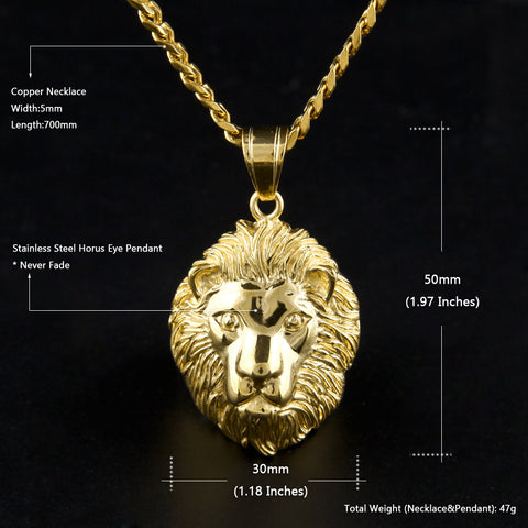 lion necklace specs