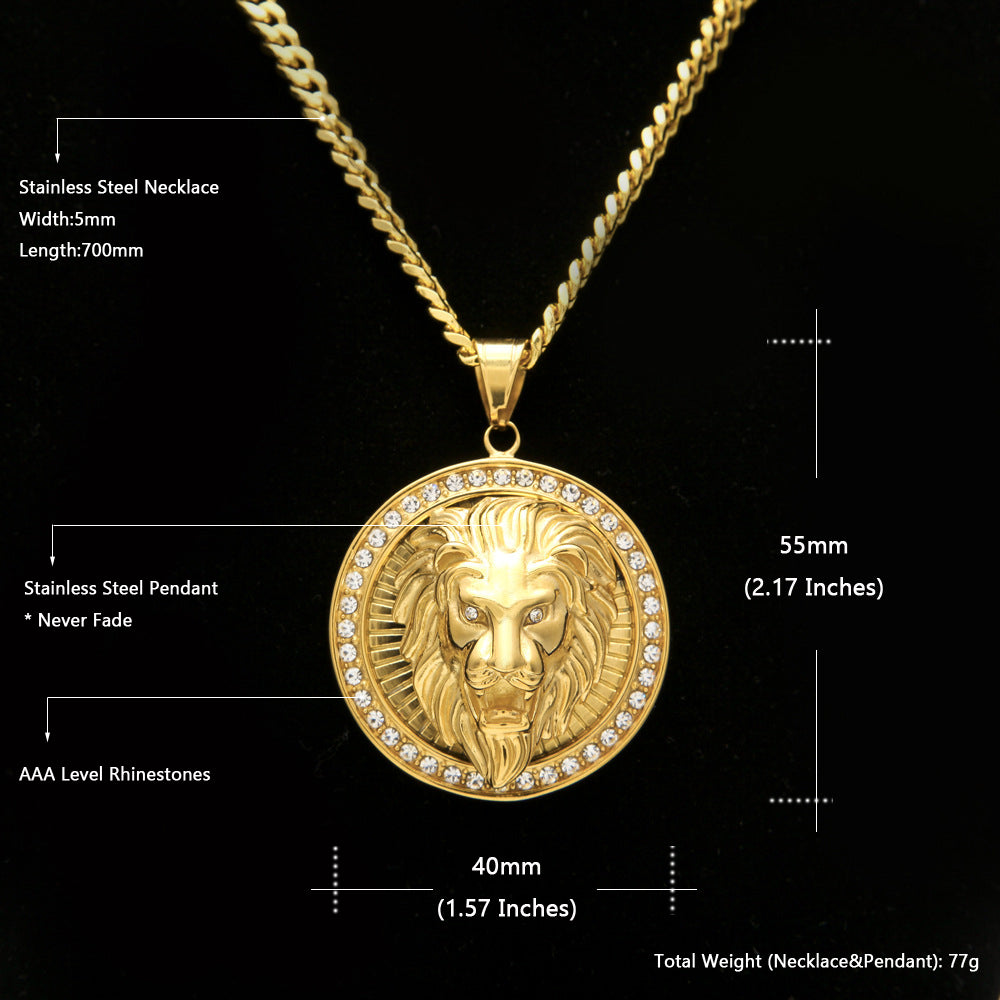 Iced out lion head pendant necklace la gold cartel iced out lion head pendantchain iced out lion head specs aloadofball Image collections