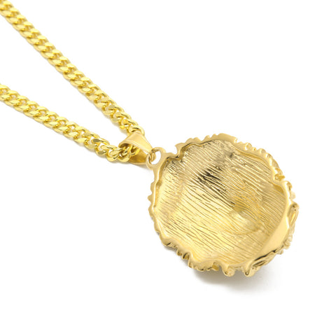 Iced Out Lion Face Necklace Pendant - LA Gold Cartel