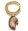Image of Wooden Chief Pendant and Chief Chain - LA Gold Cartel