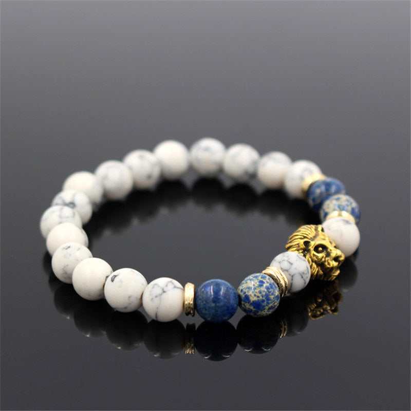 gold lion bracelet sideways