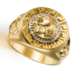 lion head gold ring