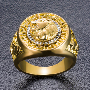 lion gold ring top