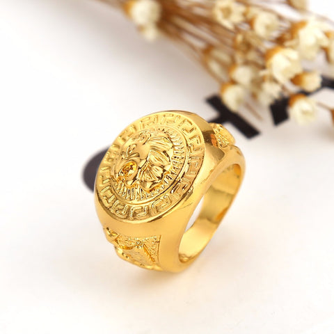 gold lion ring top