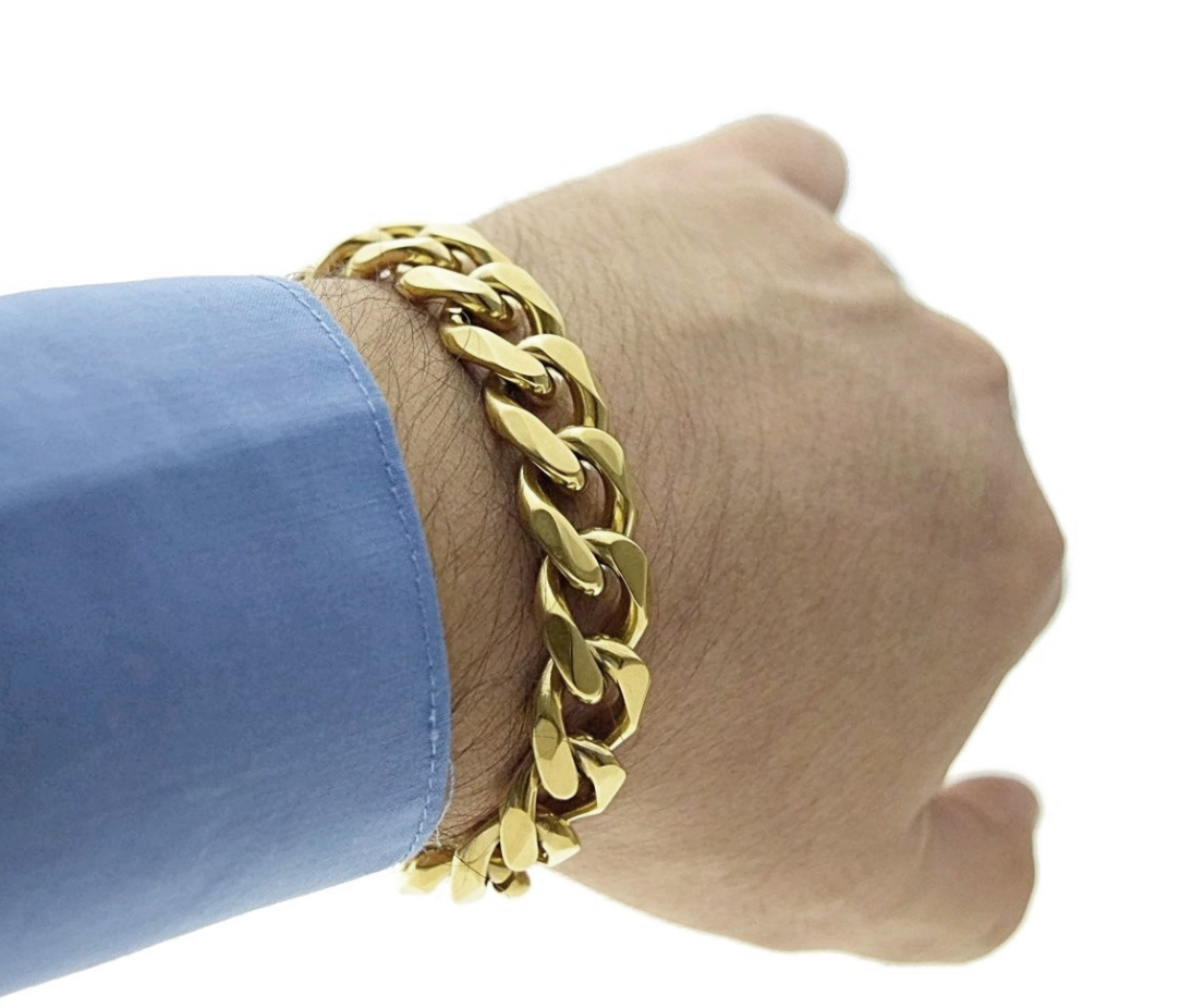 Gold Cuban Link Bracelet - LA Gold Cartel
