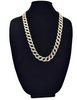 Image of Iced out 14k Gold Finish Lock Chain - LA Gold Cartel