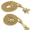 Image of Angel Pendant & Prayer Pendant with Gold Rope Chain - LA Gold Cartel