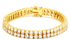 Image of Double Row Iced Out Tennis Bracelet - LA Gold Cartel