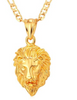 Image of gold lion head pendant