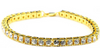 Image of Micro Iced Out Tennis Bracelet in Gold & Silver - LA Gold Cartel