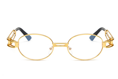 Huncho Glasses with Clear Lense - LA Gold Cartel