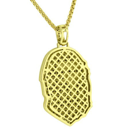 Limited Edition Iced Out Bape  Ape Chain - LA Gold Cartel