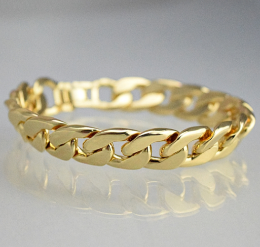 Cuban Link Gold Finish 14mm Bracelet - LA Gold Cartel