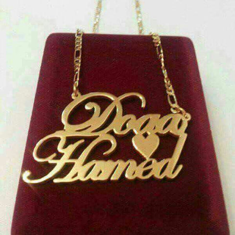 Custom  24K Gold Plated Hand Made Name, Logo, Slogan Chains, Pendants, Necklaces, and Medals - LA Gold Cartel