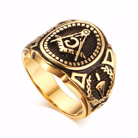 Free Mason Ring - LA Gold Cartel