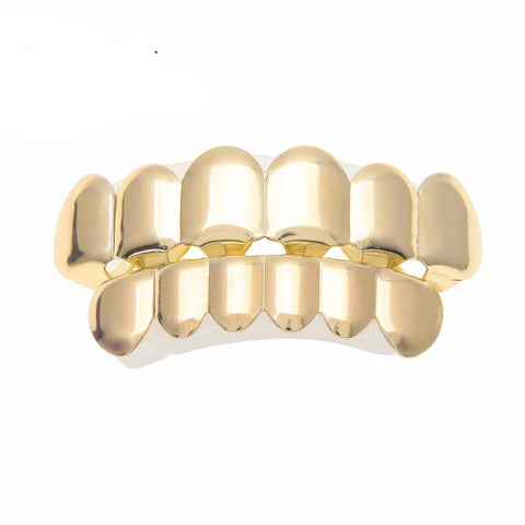 Adjustable Gold Grill Top & Bottom - LA Gold Cartel