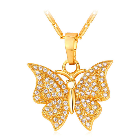 Custom Butterfly Pendant & Chain - LA Gold Cartel