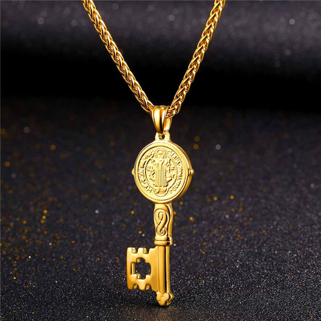 Key To the Streets Pendant & Chain - LA Gold Cartel