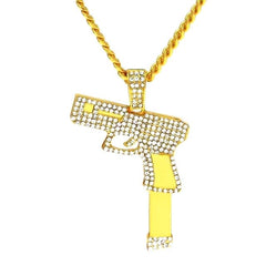 Iced Out Glock & Chain