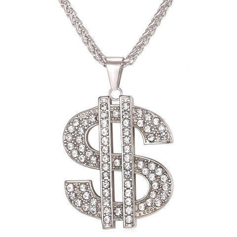 Iced out Money Pendant & Chain - LA Gold Cartel