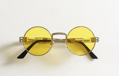 Gold ASAP Rounded Glasses - LA Gold Cartel
