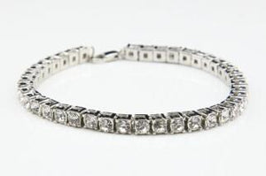 Best Selling Iced Out Bracelet: Micro Iced Out Tennis Bracelet in Gold & Silver silver + Lion Chain: Free - LA Gold Cartel