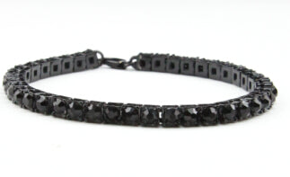 Best Selling Iced Out Bracelet: Micro Iced Out Tennis Bracelet in Gold & Silver - LA Gold Cartel