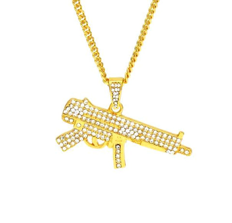 Iced Out Mp5 Chain - LA Gold Cartel