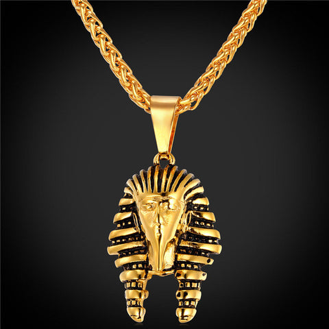 Egyptian Pharaoh Vintage Gold Finish with Rope Chain - LA Gold Cartel