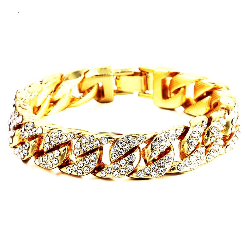 Iced Out Cuban Bracelet - LA Gold Cartel