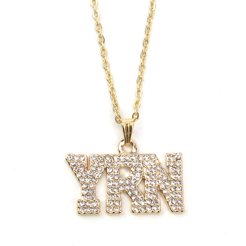 YRN Pendant and Chain - LA Gold Cartel