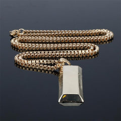 Brick Pendant With Hermes Link Chain