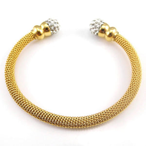Adjustable Iced out Bangel Bracelet - LA Gold Cartel