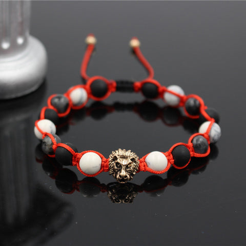 Multi-Style Lion Bead Bracelet with String