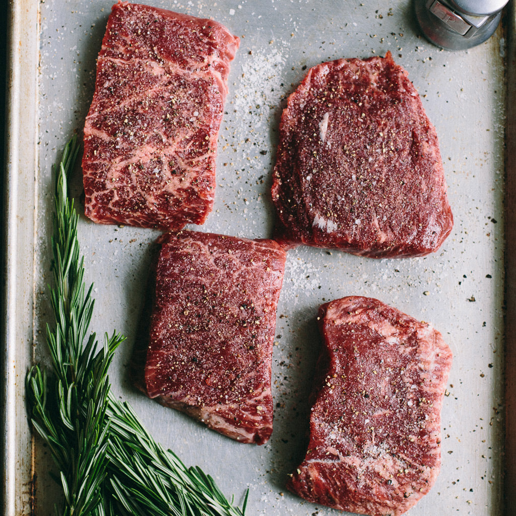 Beef Flat Iron Steaks - 8 oz