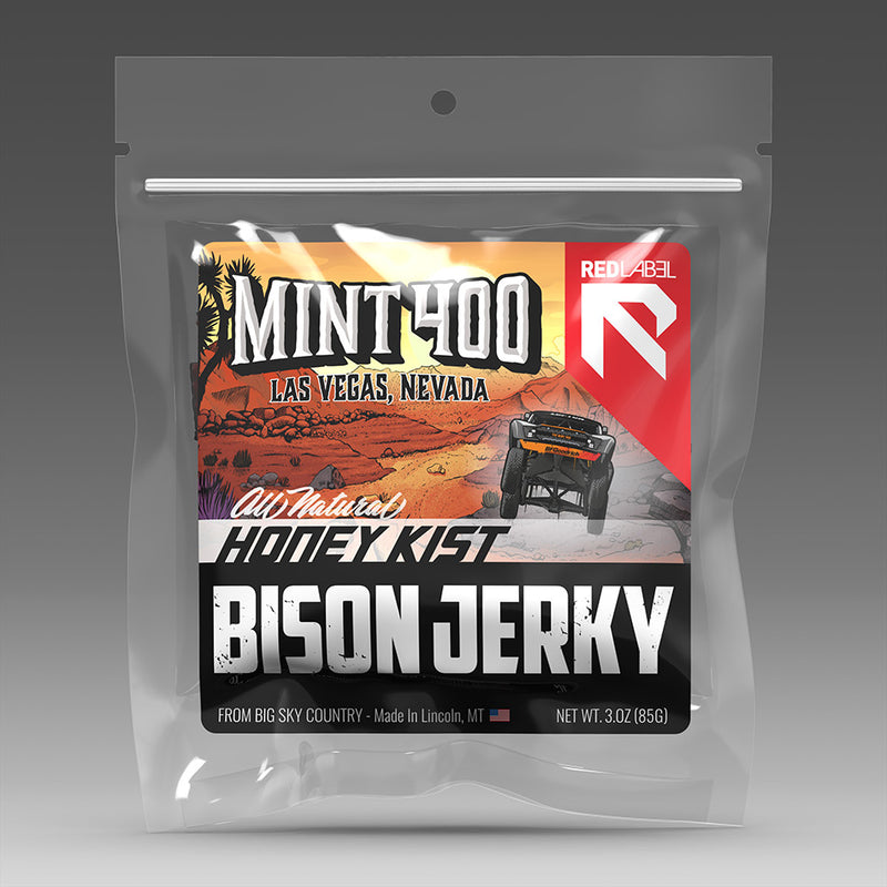 Red Label Mint 400 Bison Jerky - Honey Kist