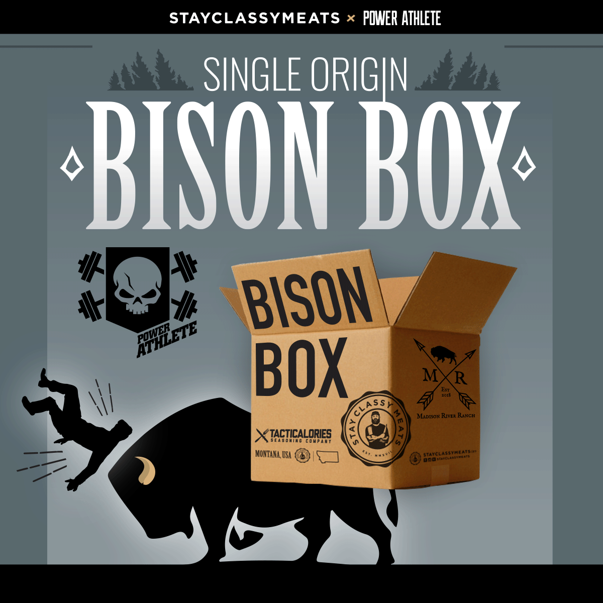 Stay Classy Meats x Power Athlete - Single Source Bison Box