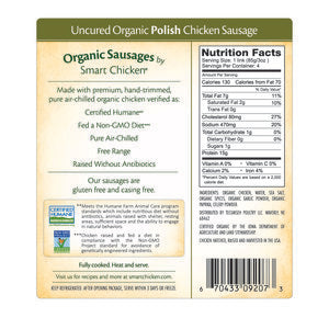 Smart Chicken - Organic Polish Sausage