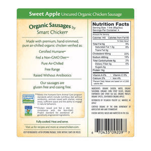 Smart Chicken - Organic Sweet Apple Sausage.