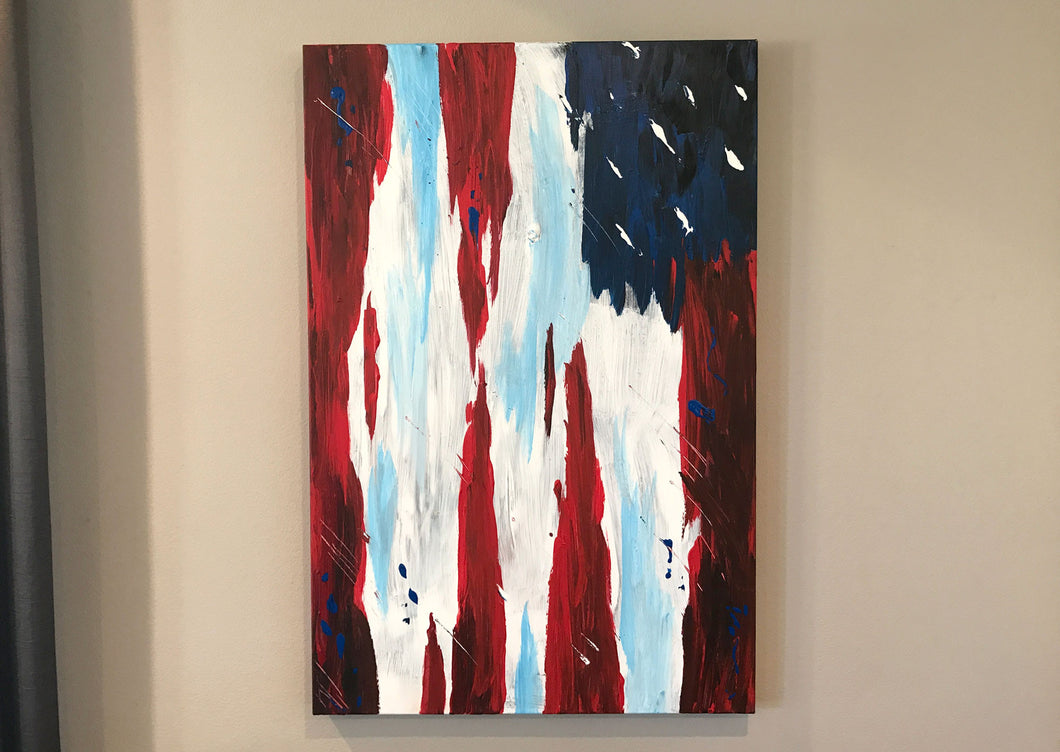 United States Flag Painting